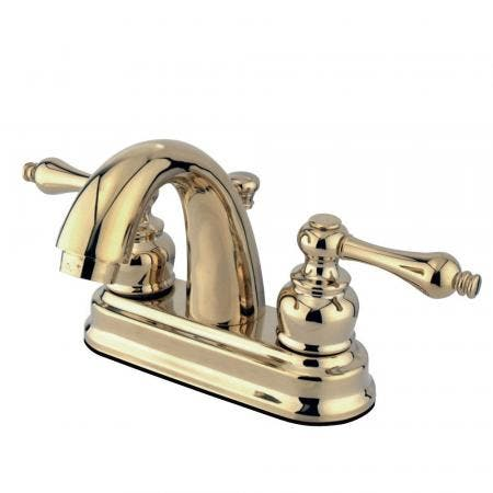 Kingston Brass GKB5612AL 4 in. Centerset Bathroom Faucet, Polished Brass