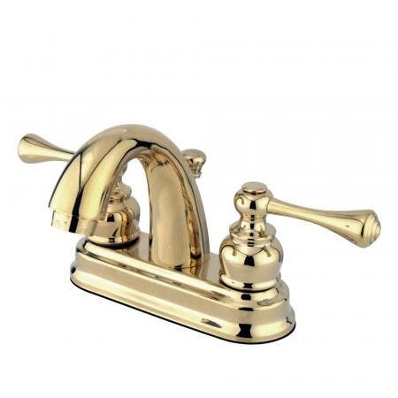 Kingston Brass GKB5612BL 4 in. Centerset Bathroom Faucet, Polished Brass