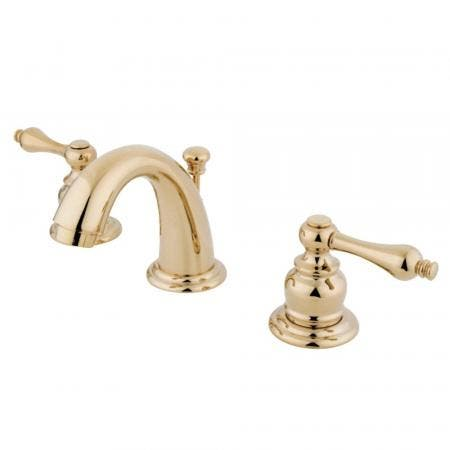 Kingston Brass GKB912AL English Country Widespread Bathroom Faucet, Polished Brass