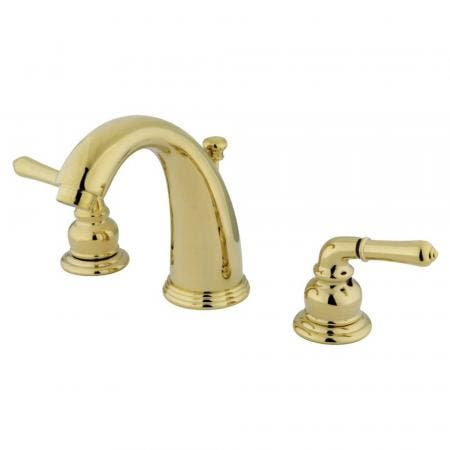 Kingston Brass GKB982 Widespread Bathroom Faucet, Polished Brass