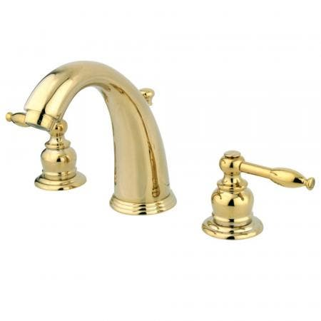 Kingston Brass GKB982KL Widespread Bathroom Faucet, Polished Brass