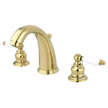 Kingston Brass GKB982PL Widespread Bathroom Faucet, Polished Brass