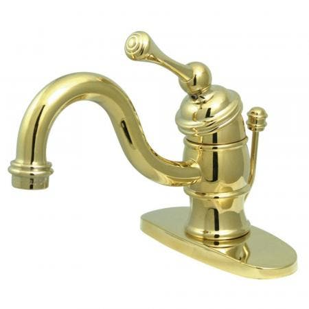 "Kingston Brass KB3402BL Victorian 4"" Centerset Single Handle Bathroom Faucet, Polished Brass"