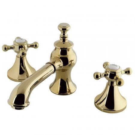 Kingston Brass KC7062BX 8 in. Widespread Bathroom Faucet, Polished Brass