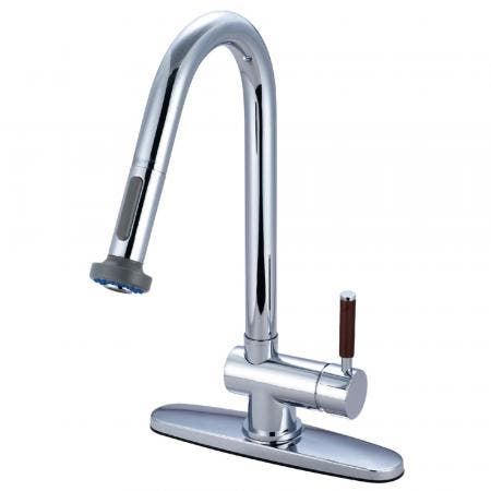 Gourmetier GS8881DWL Wilshire Single-Handle Pull-Down Kitchen Faucet, Polished Chrome