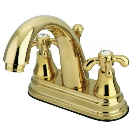 Kingston Brass KS7612TX 4 in. Centerset Bathroom Faucet, Polished Brass
