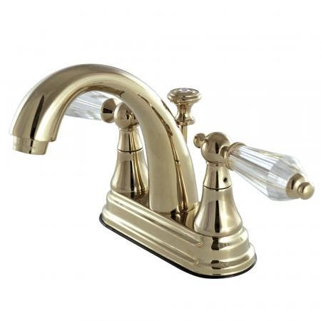 Kingston Brass KS7612WLL 4 in. Centerset Bathroom Faucet, Polished Brass