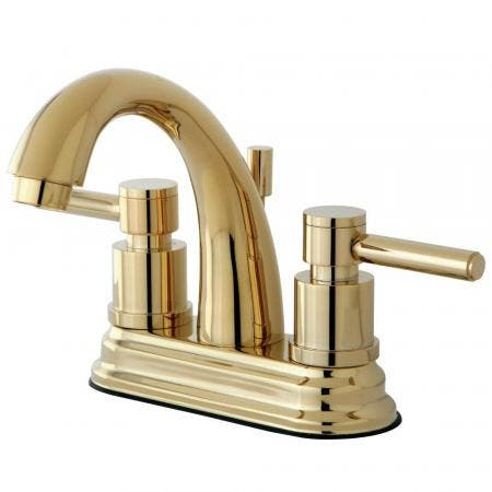 Kingston Brass KS8612DL 4 in. Centerset Bathroom Faucet, Polished Brass