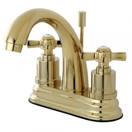 Kingston Brass KS8612ZX 4 in. Centerset Bathroom Faucet, Polished Brass