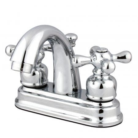 Kingston Brass FB5611AX 4 in. Centerset Bathroom Faucet, Polished Chrome