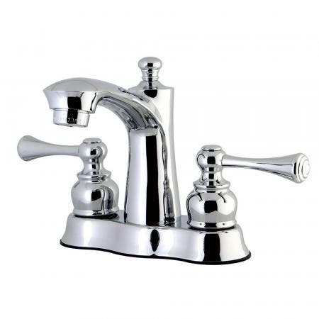 Kingston Brass FB7611BL 4 in. Centerset Bathroom Faucet, Polished Chrome