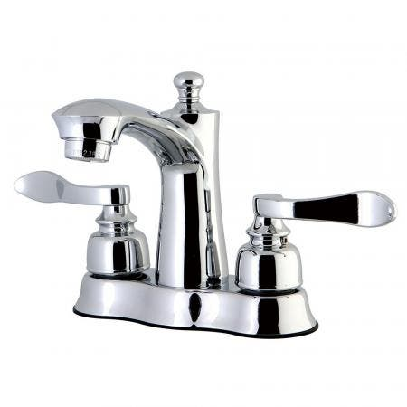 Kingston Brass FB7611NFL 4 in. Centerset Bathroom Faucet, Polished Chrome