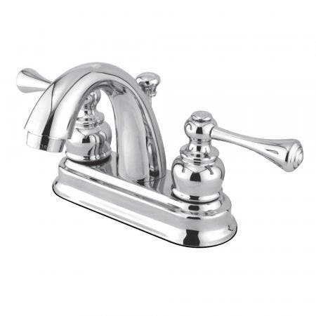 Kingston Brass GKB5611BL 4 in. Centerset Bathroom Faucet, Polished Chrome