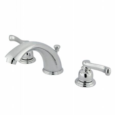 Kingston Brass GKB961FL Widespread Bathroom Faucet, Polished Chrome