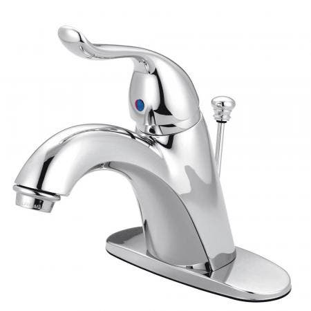 Kingston Brass KB6401YL 4 in. Single Handle Bathroom Faucet, Polished Chrome
