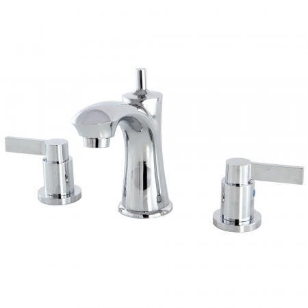 Kingston Brass KB7961NDL 8 in. Widespread Bathroom Faucet, Polished Chrome