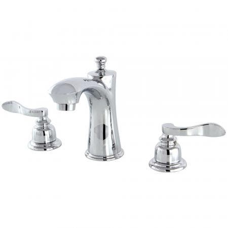 Kingston Brass KB7961NFL 8 in. Widespread Bathroom Faucet, Polished Chrome
