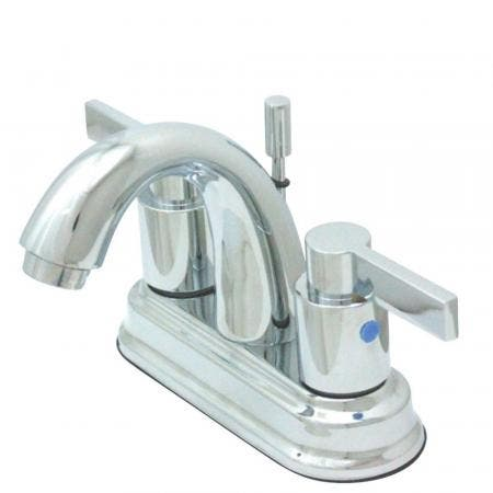 Kingston Brass KB8611NDL 4 in. Centerset Bathroom Faucet, Polished Chrome
