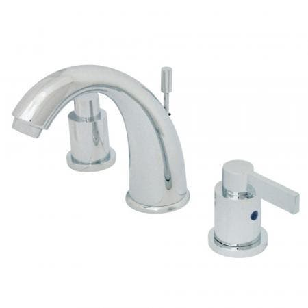 Kingston Brass KB8981NDL 8 in. Widespread Bathroom Faucet, Polished Chrome