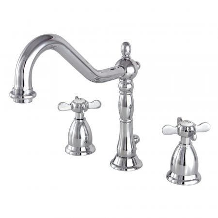 Kingston Brass KS1991BEX 8 in. Widespread Bathroom Faucet, Polished Chrome