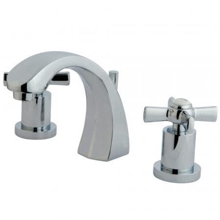 Kingston Brass KS4981ZX 8 in. Widespread Bathroom Faucet, Polished Chrome
