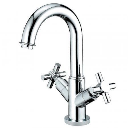 Kingston Brass KS8451JX Concord Two-Handle Bathroom Faucet with Push Pop-Up and Cover Plate, Polished Chrome