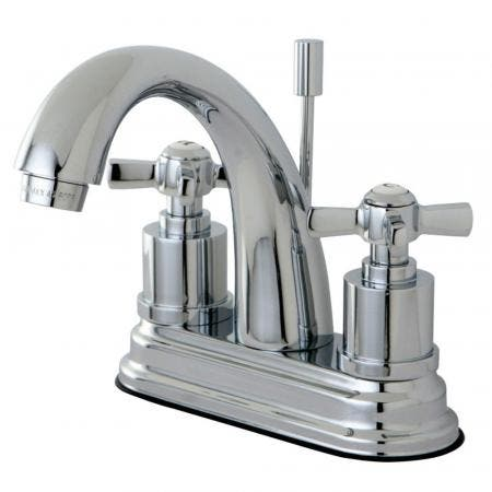 Kingston Brass KS8611ZX 4 in. Centerset Bathroom Faucet, Polished Chrome