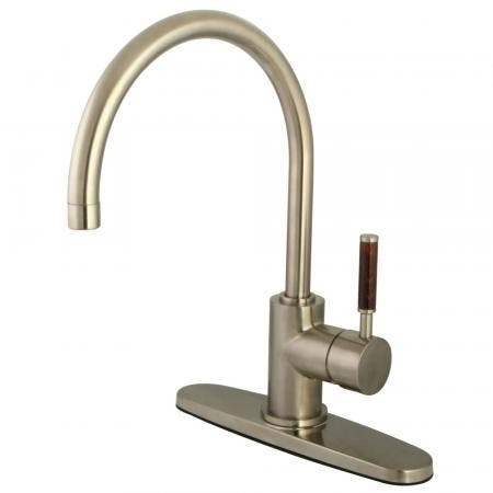 Kingston Brass KB3752BL Vintage 8 inch center two handle kitchen faucet with side sprayer