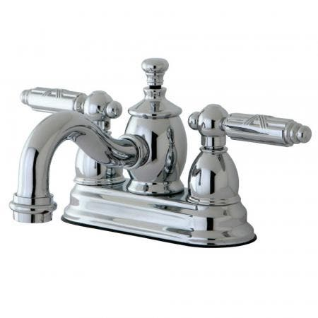 Kingston Brass KS7101GL 4 in. Centerset Bathroom Faucet, Polished Chrome