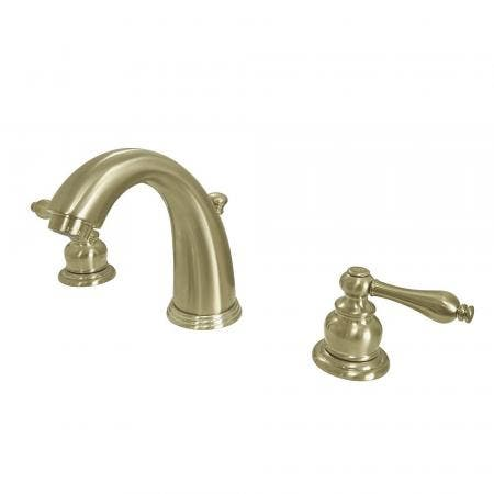 Kingston Brass KB987ALSB Victorian 2-Handle 8 in. Widespread Bathroom Faucet, Brushed Brass
