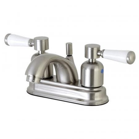 Kingston Brass FB2608DPL 4 in. Centerset Bathroom Faucet, Brushed Nickel