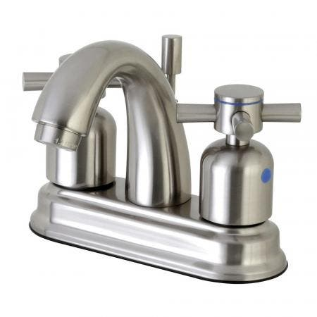 Kingston Brass FB5618DX 4 in. Centerset Bathroom Faucet, Brushed Nickel