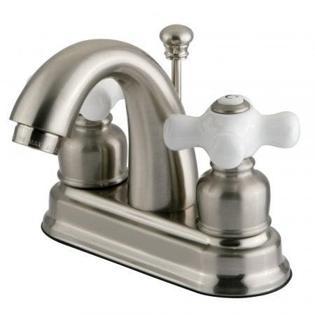 Kingston Brass FB5618PX 4 in. Centerset Bathroom Faucet, Brushed Nickel