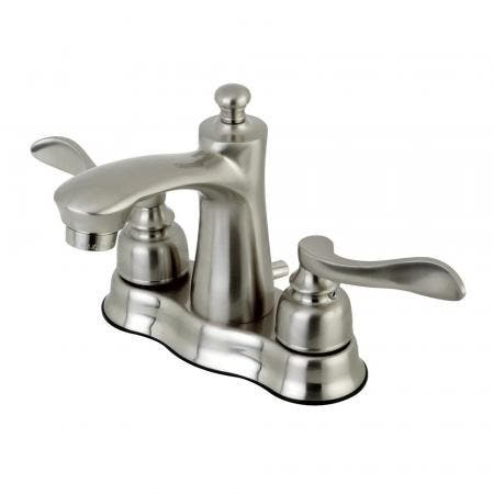 Kingston Brass FB7618NFL 4 in. Centerset Bathroom Faucet, Brushed Nickel