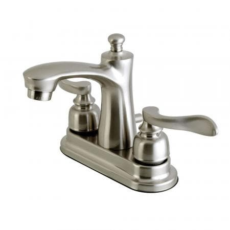 Kingston Brass FB7628NFL 4 in. Centerset Bathroom Faucet, Brushed Nickel