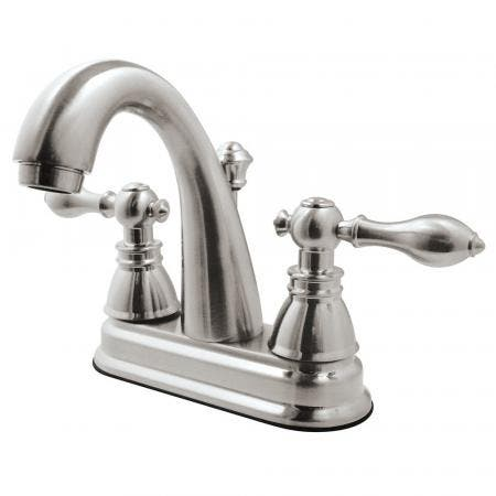 Fauceture FSY5618ACL American Classic 4 in. Centerset Bathroom Faucet with Plastic Pop-Up, Brushed Nickel