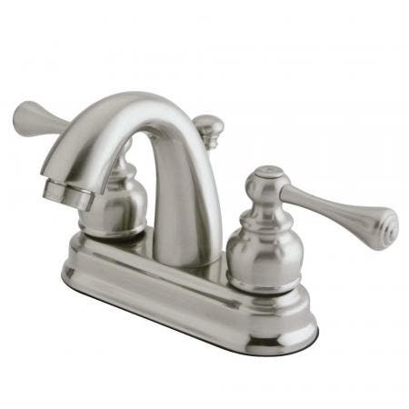 Kingston Brass GKB5618BL 4 in. Centerset Bathroom Faucet, Brushed Nickel
