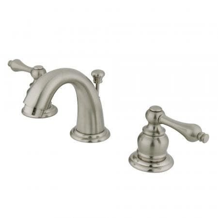 Kingston Brass GKB918AL English Country Widespread Bathroom Faucet, Brushed Nickel