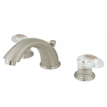 Kingston Brass GKB968ALL Widespread Bathroom Faucet, Brushed Nickel