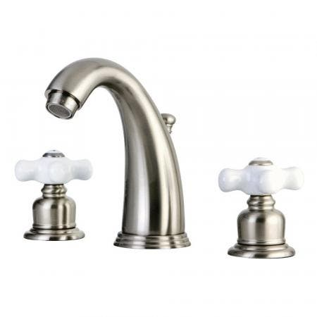Kingston Brass GKB988PX Widespread Bathroom Faucet, Brushed Nickel
