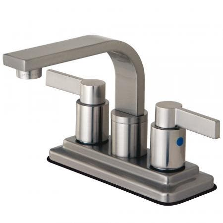 Kingston Brass KB8468NDL NuvoFusion 4-Inch Centerset Bathroom Faucet, Brushed Nickel