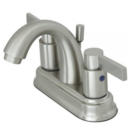 Kingston Brass KB8618NDL 4 in. Centerset Bathroom Faucet, Brushed Nickel