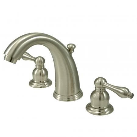 Kingston Brass KB988AL Victorian 2-Handle 8 in. Widespread Bathroom Faucet, Brushed Nickel