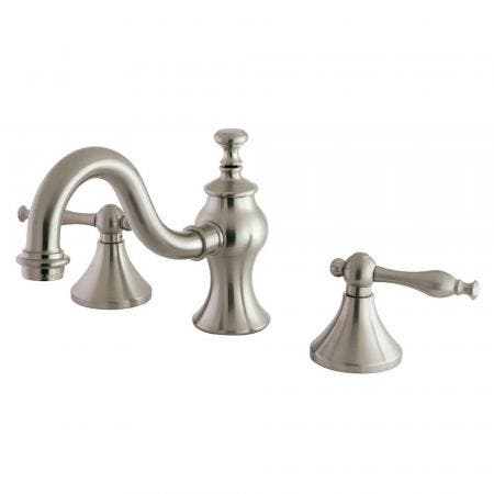 Kingston Brass KC7168NL 8 in. Widespread Bathroom Faucet, Brushed Nickel