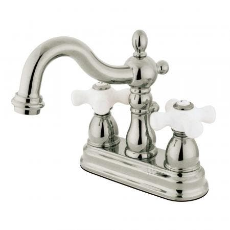Kingston Brass KS1608PX 4 in. Centerset Bathroom Faucet, Brushed Nickel