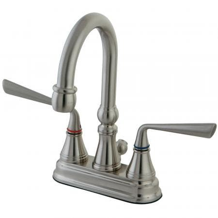 Kingston Brass KS2618ZL 4 in. Centerset Bathroom Faucet, Brushed Nickel