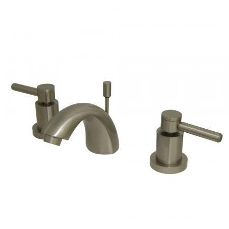 Kingston Brass KS2958DL Concord Mini Widespread Lavatory Faucet with Pop-Up, Satin Nickel