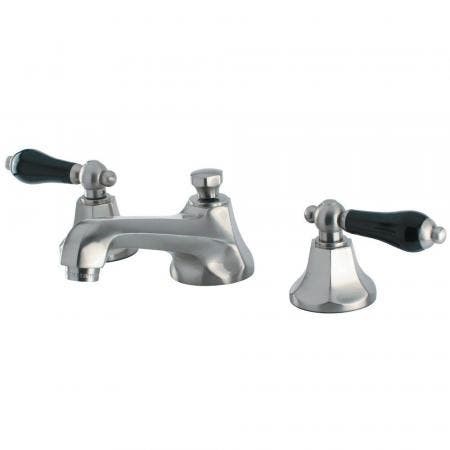 Kingston Brass KS4468PKL Duchess Widespread Bathroom Faucet with Brass Pop-Up, Brushed Nickel