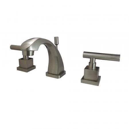 Kingston Brass KS4948CQL Claremont 8 in. Widespread Bathroom Faucet, Brushed Nickel