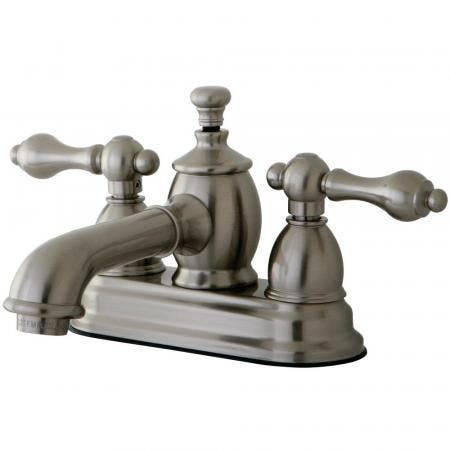 Kingston Brass KS7008AL 4 in. Centerset Bathroom Faucet, Brushed Nickel